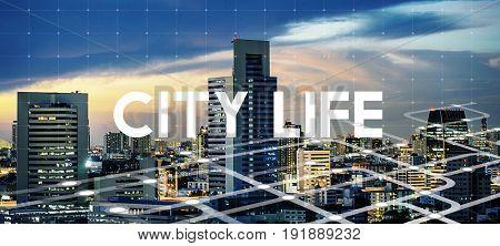 Urban Living City Lifestyle Word