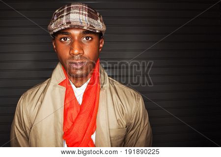 Young African American Fashionable Well Dressed Man