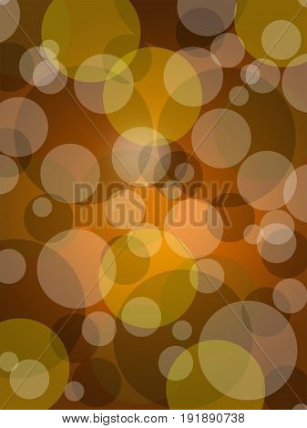 brown circle with light bokeh on gradient background