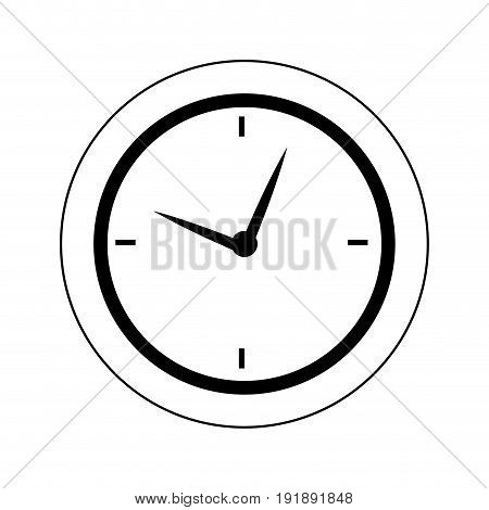 round clock time hour business object icon vector illustration