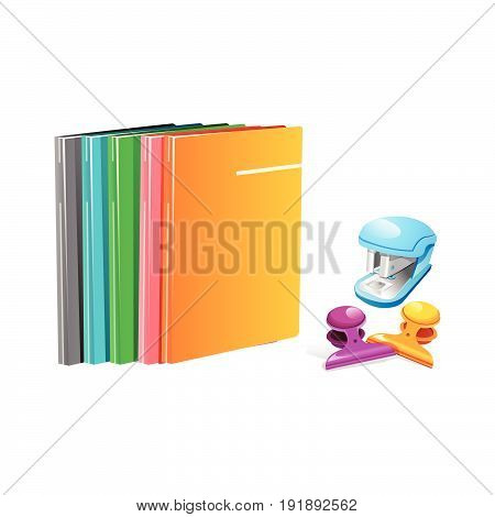 Office , School and Art Supplies. Vector Illustration.