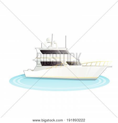 Stock Vector illustration of cruise ship isolated