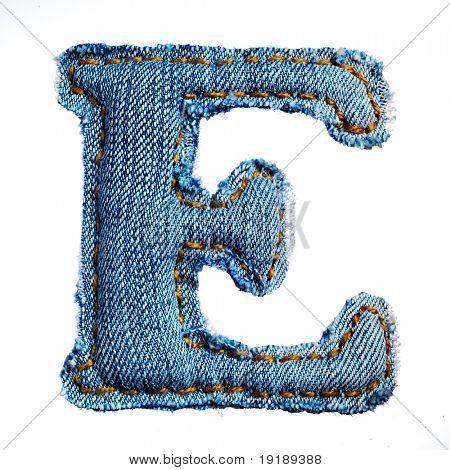 einen Buchstaben des Alphabets jeans