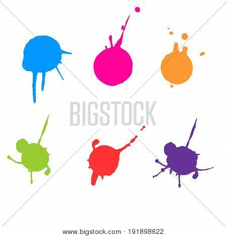 vector color paint splatter. Paint splatter set.Vector illustration.