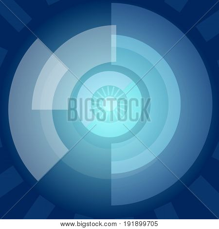 Abstract technology background vector illustration with future concept