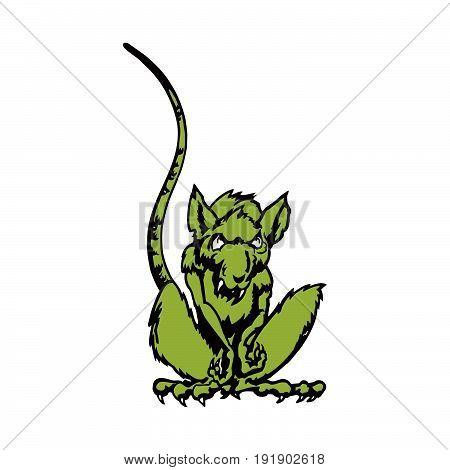 rat cartoon character. Vector . Illustration design. Fully editable vector