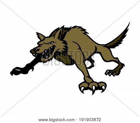 wolves cartoon. Animal cartoon character Vector Illustration.