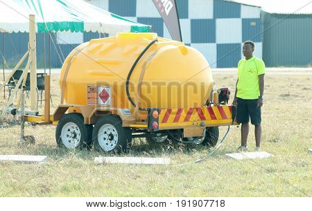Mobile Fuelling Tank Used To Fuel Aeroplanes At Event.