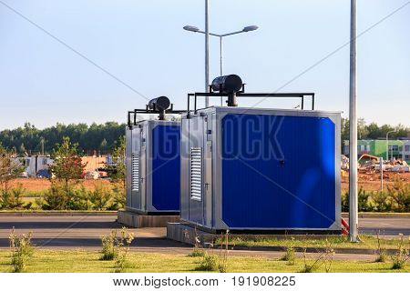 Diesel electric generator used as a backup power source