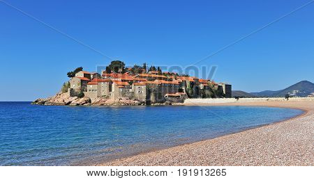 Sveti Stefan resort on adriatic sea Montenegro