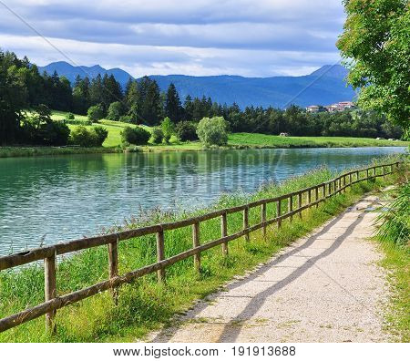 Beautiful lake in Trentino Alto Adidge, Italy