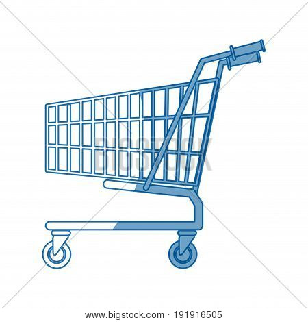 shopping cart market store empty buy symbol vector illustration