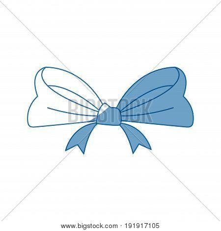 smooth ribbon beam bow decoration image vector illustration