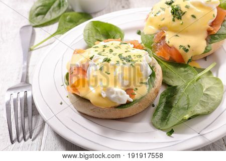 toast with salmon and poached egg