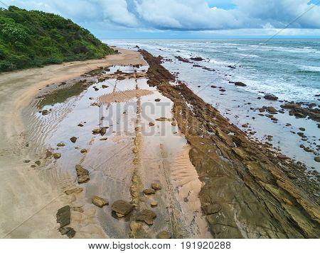 Wild Beach With Rocks
