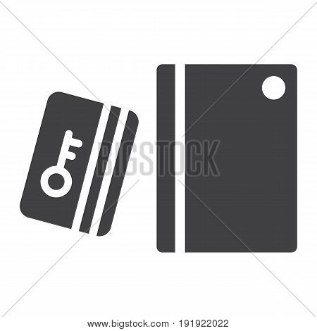 Swipe Card Reader With Keypad solid icon, security access and electronic lock, vector graphics a glyph pattern on a white background, eps 10.
