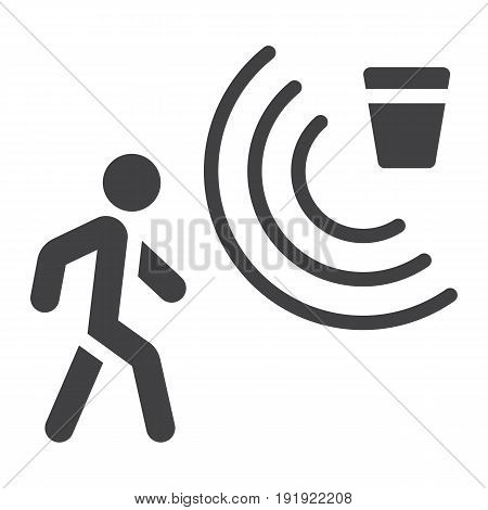 Motion detector solid icon, security and guard, vector graphics, a glyph pattern on a white background, eps 10.