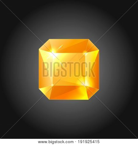 Golden gem for logo designs or web elements.