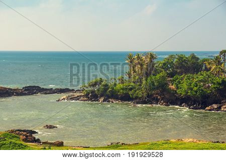 View of the lagoon near fort of Galle, Sri Lanka