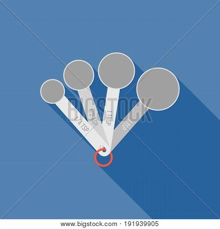 measuring spoon ,spoon icon, flat design icon