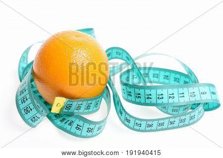 Concept Of Fresh Food Eating With Ripe Orange Fruit