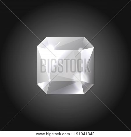 Silver gem for logo designs or web elements.