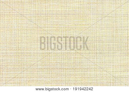 The texture of coarse woven yellow fabric