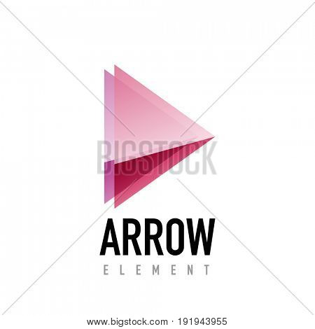 arrow geometric design logo, abstract modern logotype