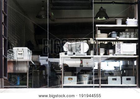 Kitchenware interior appliance design space