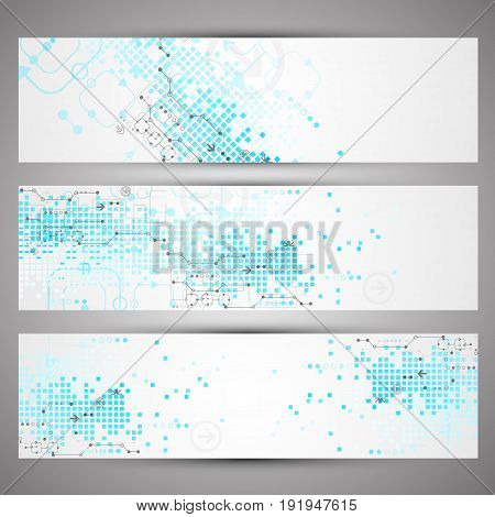 Set Of Web Tecnology Theme Banners For Your Web Site