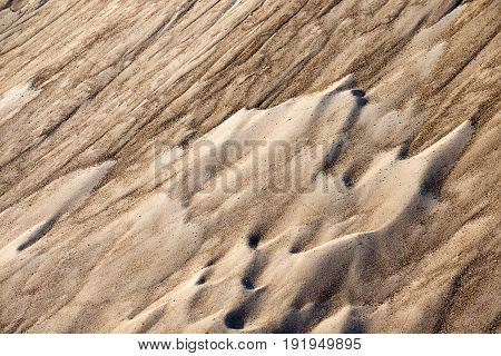 Close up of sand hills. Whole background.