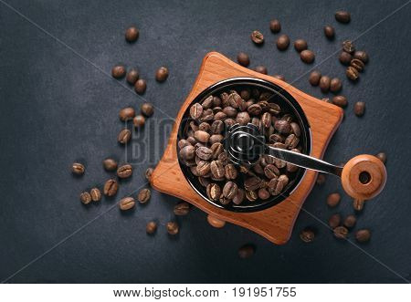 Coffee Mill And Beans