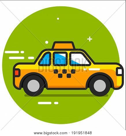 Taxi icon design graphic art illustration vector