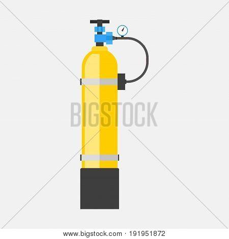 icon oxygen tank flat design image
