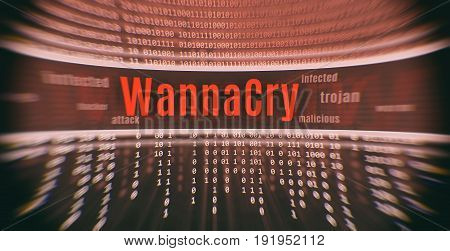 Ransomware Attack Wannacry. Cyber Attack