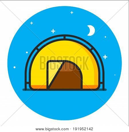 Tent Icon design graphic art illustration rasterized