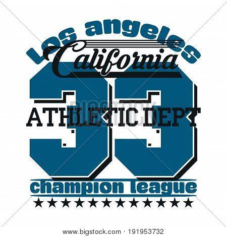 Los Angeles Athletics typography stamp California t-shirt emblem graphics vintage sport wear tee print design