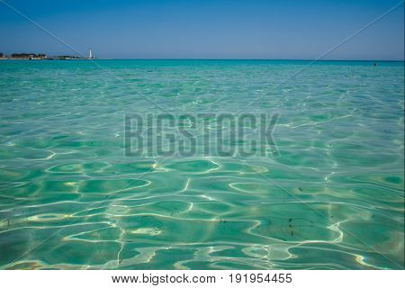 Vacation On The Sea, Crystal Clear Sea Water Texture With Glare From The Sun