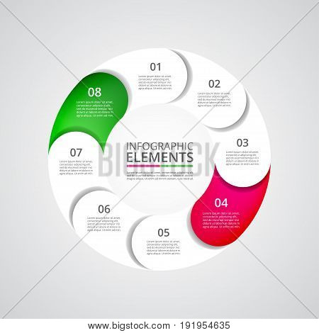 Vector Circle Template For Infographic.
