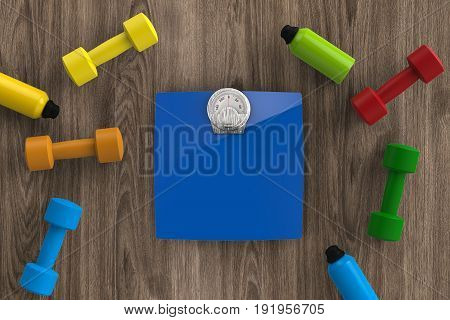 Weight Scales With Dumbbells And Kettle Bells