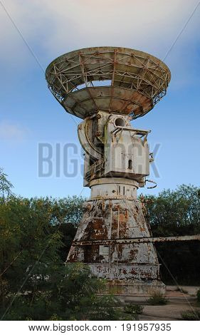 Abandoned Pacific Barrier Radar 111 tower, Saipan The remnants of an abandoned radar site in As Matuis, Saipan, Northern Mariana Islands
