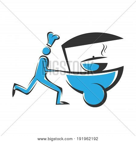 Cooking delivery vector ilustrations. Abstract vector for food chef.