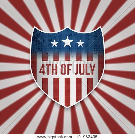 Fourth of July Sign Design Template - 4th of July - Independence Day patriotic Background
