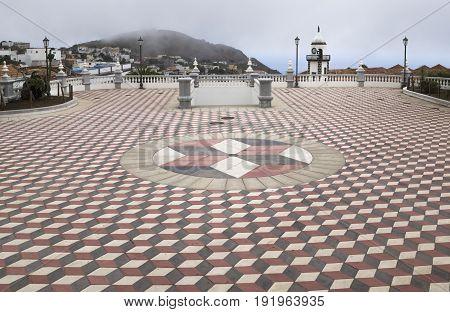 el hierro main city with church, Valverde, Canary Islands, Spain