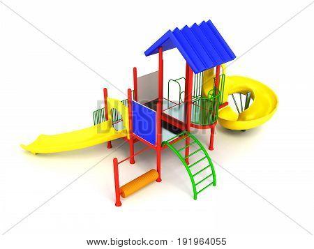 Motley Playground красная 3D Render On White Background