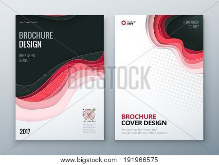 Paper cut brochure design. Paper carve abstract cover for brochure flyer magazine anual report or catalog design. Brochure business template