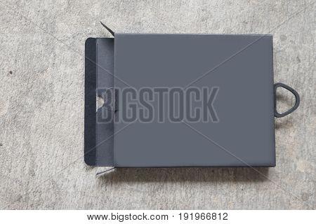 Black package box open box empty box