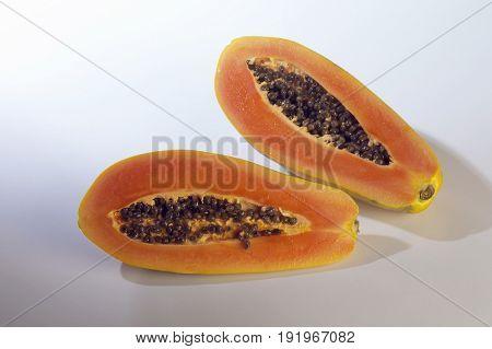 cut out of papaya