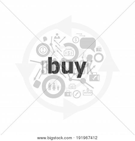 Text Buy On Digital Screen, Business Concept