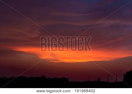 Beautiful dramatic sunset skynatural beauty twilight sky for background.